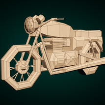 Low-Poly Cartoon Motorcycle - Extended License  image 7