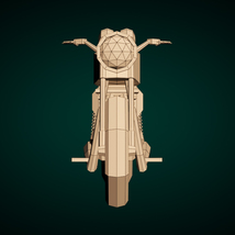 Low-Poly Cartoon Motorcycle - Extended License  image 8