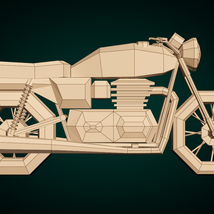 Low-Poly Cartoon Motorcycle - Extended License  image 9