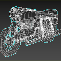 Low-Poly Cartoon Motorcycle - Extended License  image 12