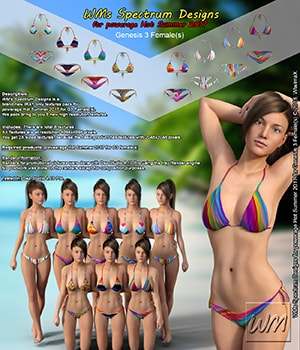WMs Spectrum Designs for powerage Hot Summer 2017 for Genesis 3 Females 3D Figure Assets WiwimaX
