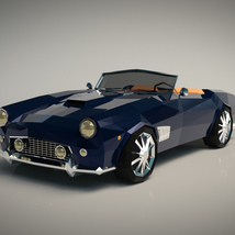 Low-Poly Cartoon Roadster  - Extended License  image 1