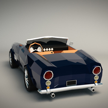 Low-Poly Cartoon Roadster  - Extended License  image 2