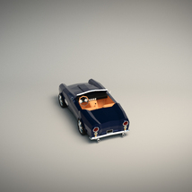 Low-Poly Cartoon Roadster  - Extended License  image 3