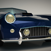 Low-Poly Cartoon Roadster  - Extended License  image 5