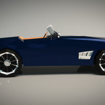Low-Poly Cartoon Roadster  - Extended License  image 6