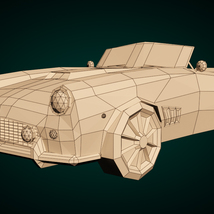Low-Poly Cartoon Roadster  - Extended License  image 7