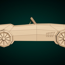 Low-Poly Cartoon Roadster  - Extended License  image 9