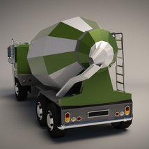 Low-Poly Cartoon Concrete Mixer Truck - Extended License  image 2