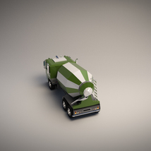 Low-Poly Cartoon Concrete Mixer Truck - Extended License  image 3