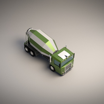 Low-Poly Cartoon Concrete Mixer Truck - Extended License  image 4