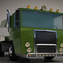 Low-Poly Cartoon Concrete Mixer Truck - Extended License  image 5