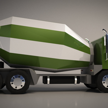 Low-Poly Cartoon Concrete Mixer Truck - Extended License  image 6