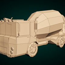 Low-Poly Cartoon Concrete Mixer Truck - Extended License  image 7