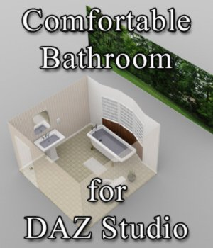 Comfortable Bathroom - for DAZ Studio  3D Models VanishingPoint