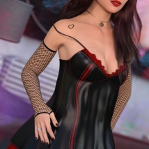 Ultimo for Fatal Attraction Outfit Set for Genesis 8 Females image 8