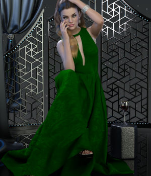 dForce Charice Gown for Genesis 8 Females 3D Figure Assets WildDesigns