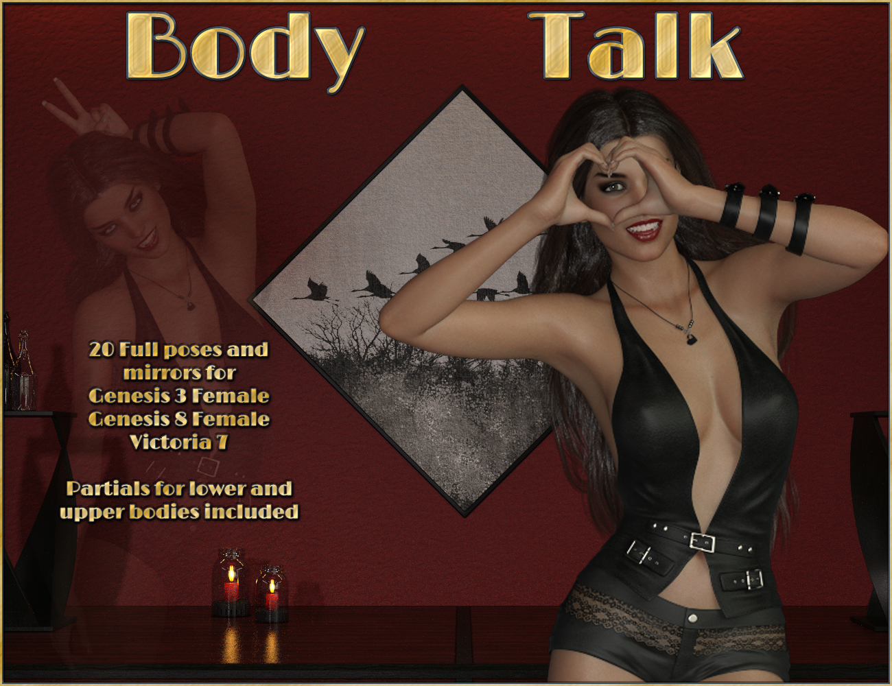 Body Talk - Poses for Genesis 3 - 8 Females by ilona