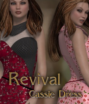 Revival for Cassie Dress V4_Poser 3D Figure Assets DivabugDesigns