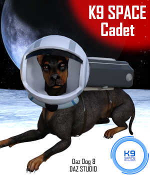 K9 SPACE CADET Outfit for Daz Dog 8 Doberman  - Daz Studio 3D Figure Assets 3D Models Winterbrose