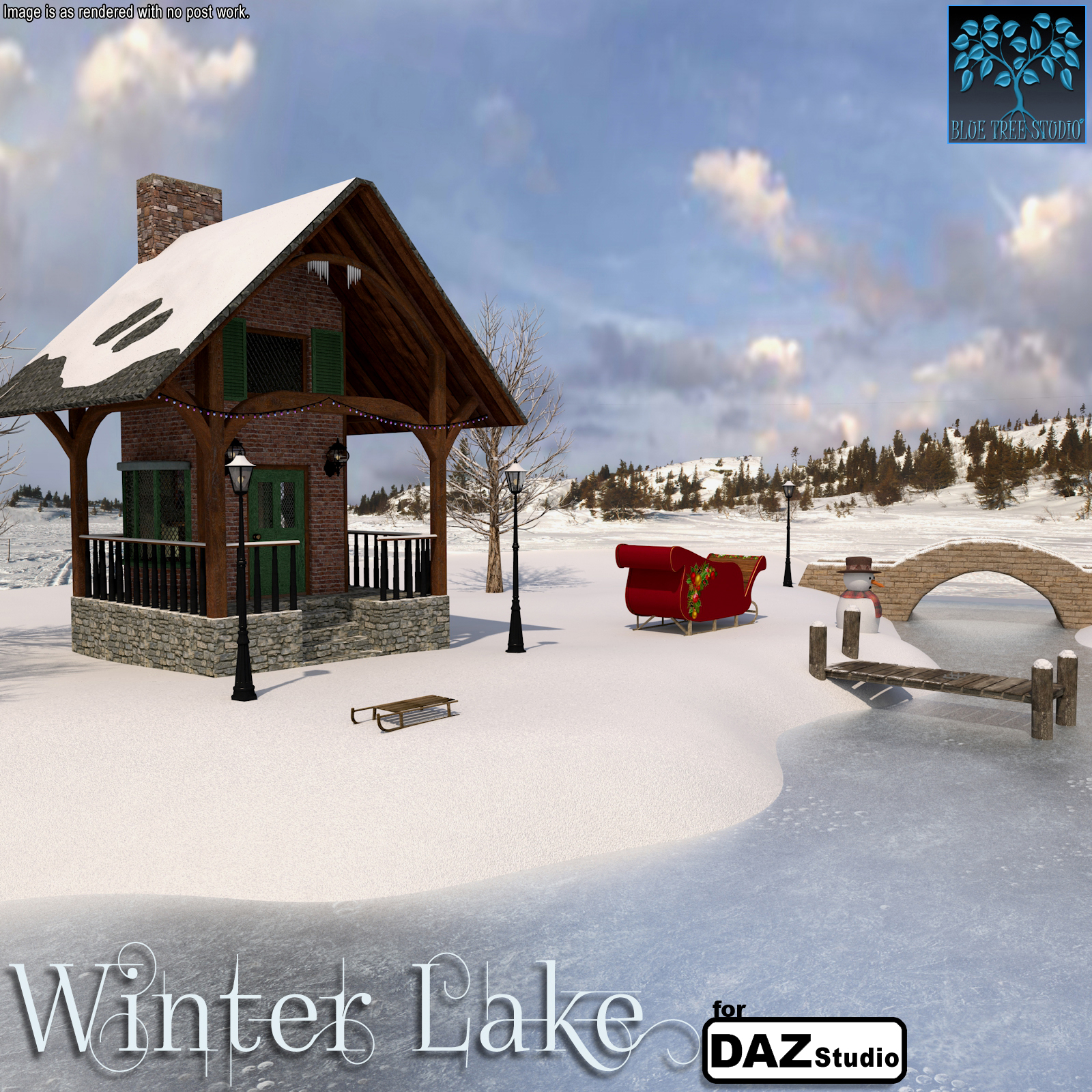 Winter Lake for Daz Studio