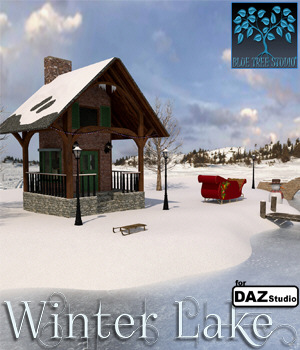 Winter Lake for Daz Studio 3D Models BlueTreeStudio