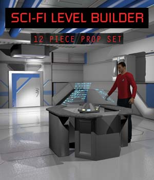 Sci Fi Level Builder 3D Models shawnaloroc