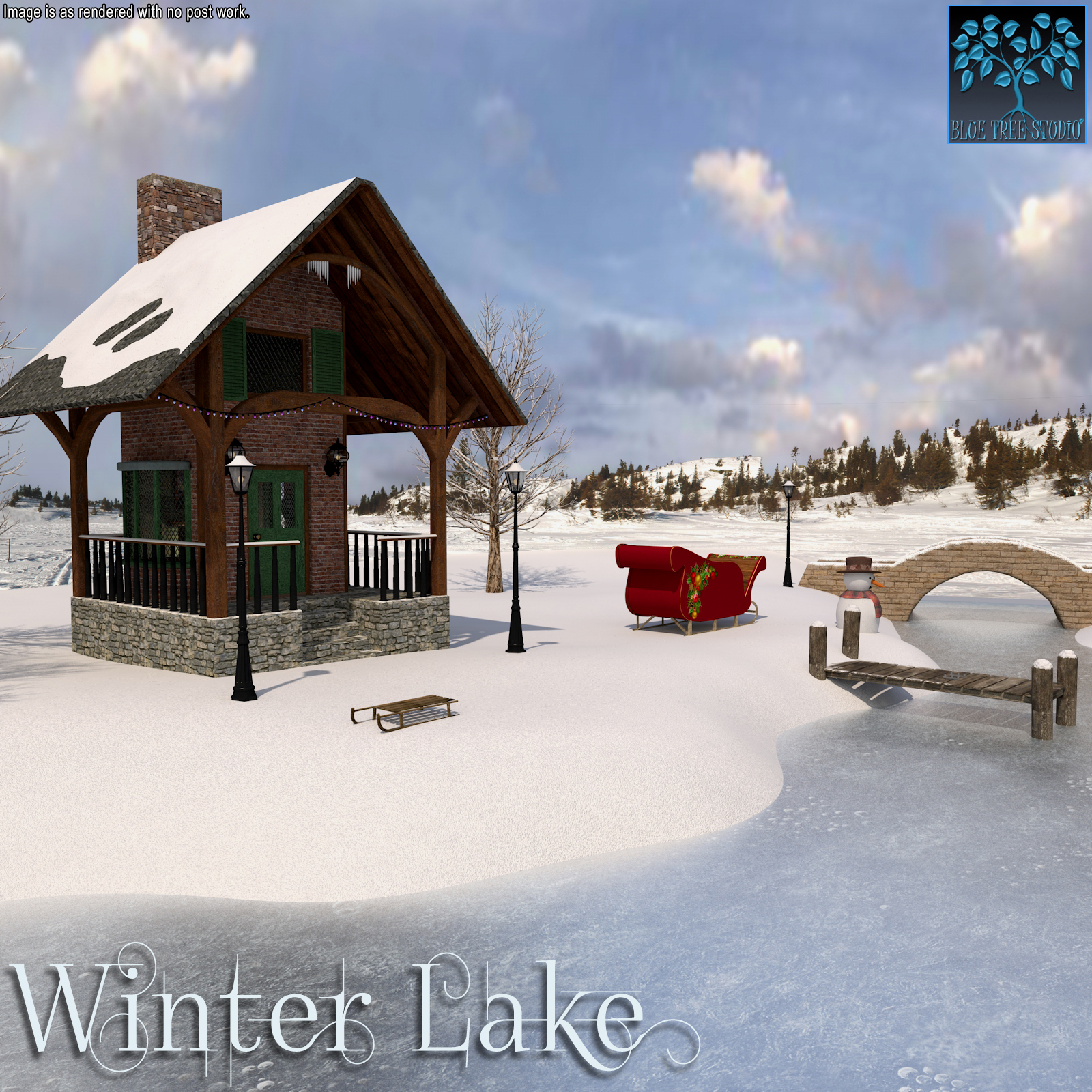 Winter Lake for Poser by BlueTreeStudio