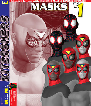 Masks v001 MMKBG3 3D Figure Assets MightyMite