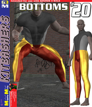 Bottoms 020 MMKBG3M 3D Figure Assets MightyMite