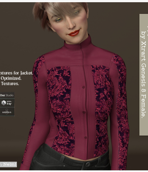Preppy-chic for X-Fashion L&L Jacket for Genesis 8 Females 3D Figure Assets nelmi