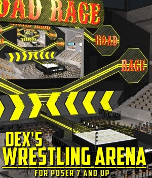Dex's Wrestling Arena for Poser 7+ 3D Models DexPac