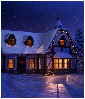 Winter Cottage  3D Models RPublishing