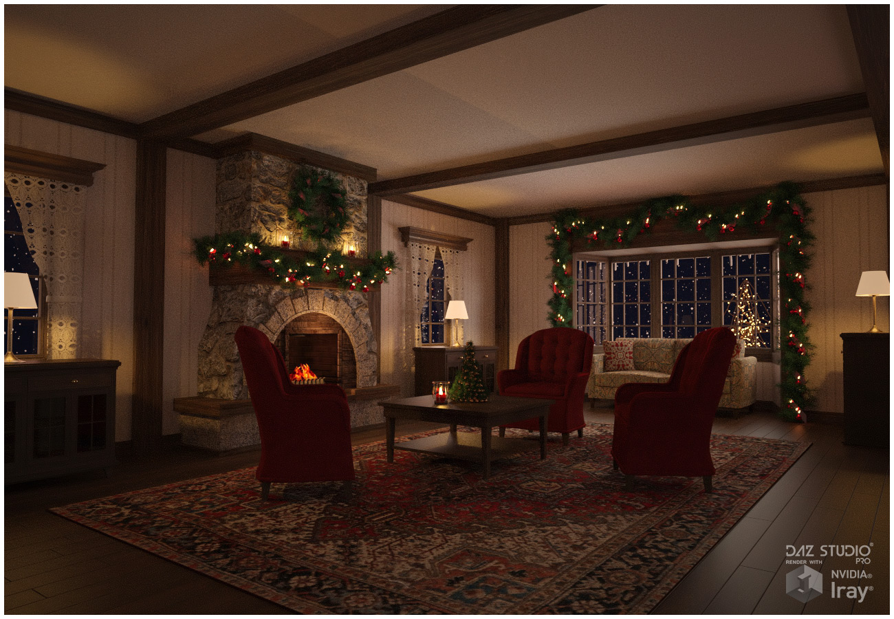 Winter Cottage Interior