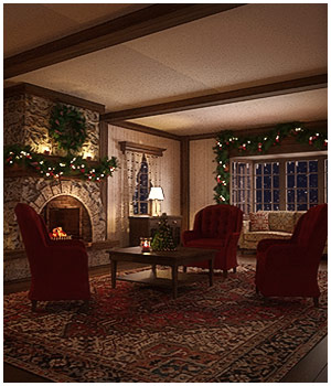 Winter Cottage Interior 3D Models RPublishing