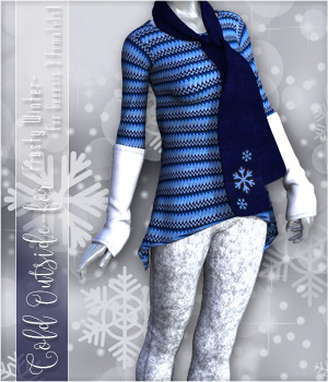 Cold Outside for Frosty Winter Genesis 3 Female(s) 3D Figure Assets SpookieLilOne
