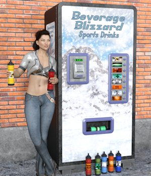 Sports Drink Vending Machine 3D Models Nightshift3D