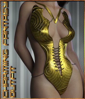 Charming Fantasy Outfit for Genesis 3 & 8 Female 3D Figure Assets j-art