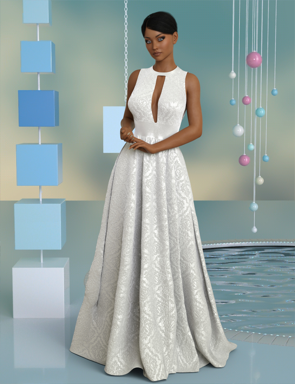 InStyle - dForce Charice Gown for Genesis 8 Females