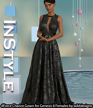 InStyle - dForce Charice Gown for Genesis 8 Females 3D Figure Assets -Valkyrie-