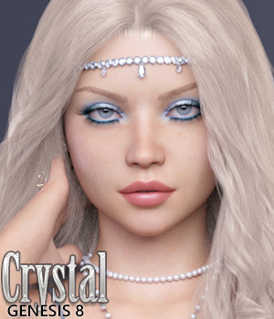 Crystal for Genesis 8 Female 3D Figure Assets Jessaii