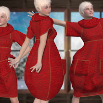 Bubble Dress for V4 and Poser image 1