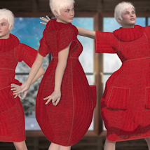 Bubble Dress for V4 and Poser image 4