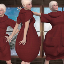 Bubble Dress for V4 and Poser image 5