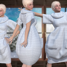 Bubble Dress for V4 and Poser image 6