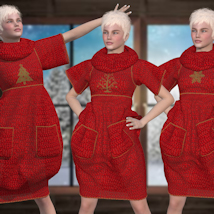 Bubble Dress for V4 and Poser image 7