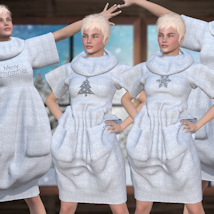 Bubble Dress for V4 and Poser image 9