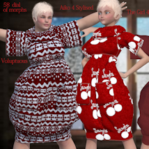 Bubble Dress for V4 and Poser image 10