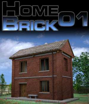 Home01Brick  Extended Licence 3D Game Models : OBJ : FBX Extended Licenses Merchant Resources imagebos