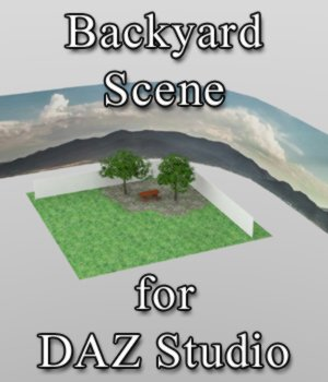 Backyard Scene - for DAZ Studio  3D Models VanishingPoint